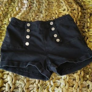 High Waisted Black Shorts by Rue 21 (Size 3/4)